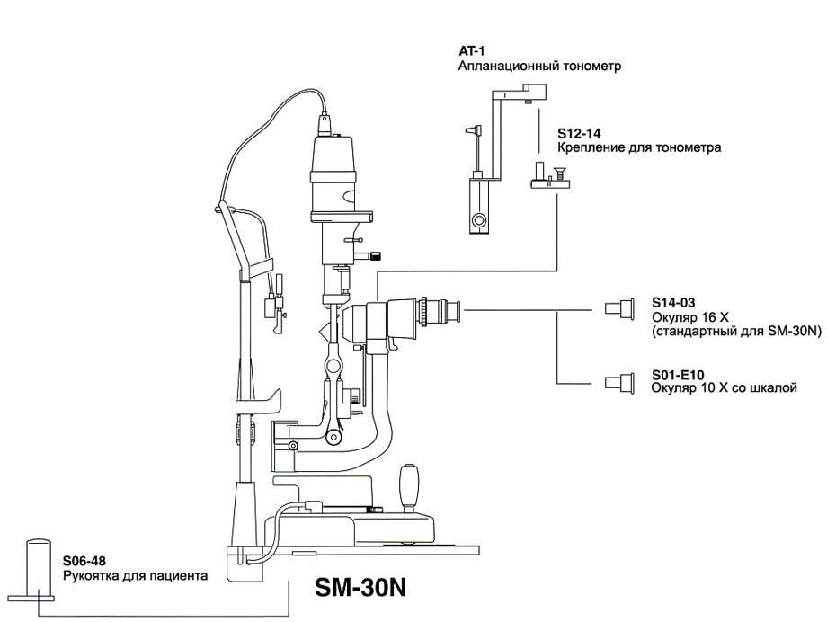 Дополнительные принадлежности для щелевой лампы Takagi SM-30N